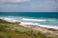 Costa oriental de Isla Contoy em México Foto de Stock