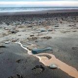 Costa orientale Inghilterra di Yorkshire della spiaggia di Barmston immagine stock