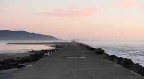 Costa ovest Crescent City Battery Point Pier dell'oceano Pacifico Fotografia Stock