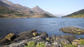 Costa ovest del lago leven Scottish del lago della Scozia in altopiani scozzesi ad ovest di Kinlochleven ed appena fuori da B863 archivi video