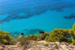 Costa ovest dell'isola di Leucade, Grecia immagini stock