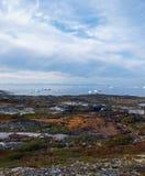 Costa ovest della Groenlandia in estate. Immagine Stock Libera da Diritti