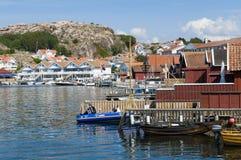 Costa ovest dello svedese di Hunnebostrand fotografie stock libere da diritti