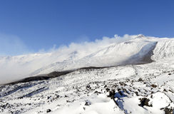Costa Ovest di Etna Fotografia Stock