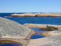 Costa ovest svedese Fotografie Stock