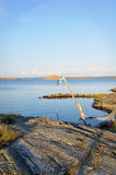 Costa ovest Svezia - paesaggio di estate fotografia stock
