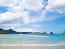 Costa pálida de la playa de Sai Imagenes de archivo