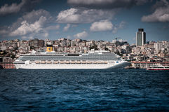 Costa Pacifica Cruise Ship On Istanbul Harbor Stock Image