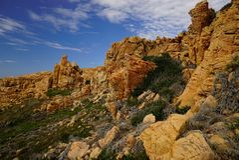 Costa Paradiso en Sardaigne Italie photo libre de droits