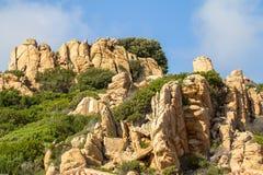 Costa Paradiso landscape on Sardinia, Italy. Costa Paradiso landscape on Sardinia island North Sardinia, Italy Royalty Free Stock Images