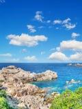 Costa Paradiso rocky coast in hdr Royalty Free Stock Photos
