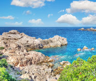 Costa Paradiso rocky coast in hdr Stock Image