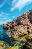 Costa paradiso sardinia sea landscape Stock Photography