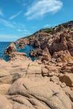 Costa paradiso sardinia sea landscape Royalty Free Stock Photos