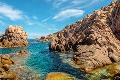 Costa paradiso sardinia sea landscape. In summertime Royalty Free Stock Photos