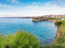 Costa popolare di Newquay l'Oceano Atlantico, Cornovaglia, Inghilterra, unita Fotografia Stock