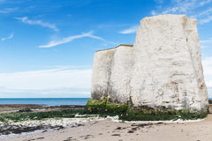 Costa popular do canal inglês de Mancha do La da baía da Botânica, Kent, Englan Imagens de Stock