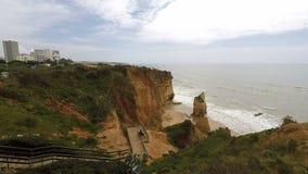 Costa Portugal do Algarve video estoque