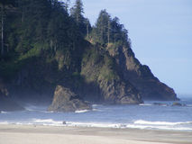 Costa principal de Oregon da cascata de Neskowin Fotografia de Stock Royalty Free