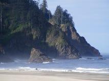Costa principal de Oregon de la cascada de Neskowin Fotografía de archivo libre de regalías
