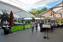 Costa Queensland Austrália de Marina Mirage Shopping Centre Gold Foto de Stock