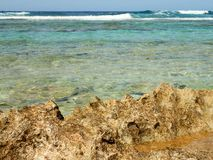 Costa, recife e ondas rochosos Imagens de Stock Royalty Free