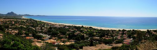 Costa Rei-Sardinia Royalty-vrije Stock Foto's