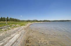Costa remota em um lago wilderness fotografia de stock royalty free
