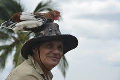 COSTA RICA żarłacza kurczaka mężczyzna Obraz Stock