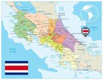 Costa Rica Administracyjna mapa ilustracja wektor