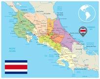 Costa Rica Administrative Map libre illustration