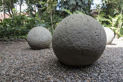 Costa Rica ancient Pre Columbian stone sphere Royalty Free Stock Images