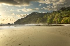 Costa Rica Beach at Sunset Stock Image