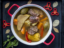 Costa Rica Beef Stew, typical food. Olla de carne stock images