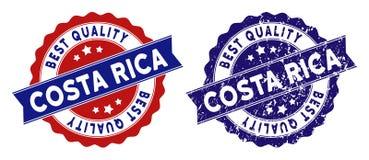 Costa Rica Best Quality Stamp con stile Grungy Fotografia Stock Libera da Diritti