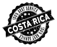 Costa Rica Best Service Stamp con struttura della polvere Fotografia Stock Libera da Diritti