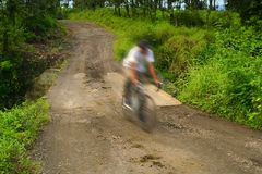 Costa Rica Bicycllist Royalty Free Stock Photography