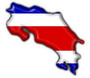 Costa rica button flag map shape Royalty Free Stock Image
