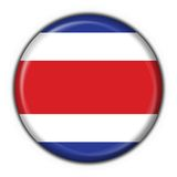 Costa rica button flag round shape Royalty Free Stock Photo