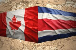 Costa Rica and Canada Stock Photography