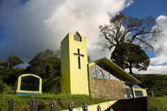 Costa Rica Church in San Miguel Stock Image