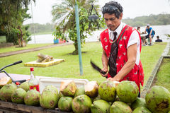 Costa Rica, Coconut seller Stock Photography