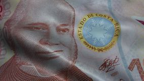 Costa Rica Colon Banknote Money agitado metrajes
