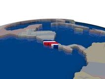 Costa Rica com bandeira Imagens de Stock Royalty Free