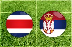 Costa Rica contra partido de fútbol de Serbia libre illustration