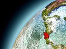 Costa Rica de la órbita de Earth modelo Fotos de archivo libres de regalías
