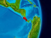Costa Rica do espaço Imagens de Stock Royalty Free