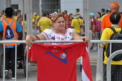 Costa Rica fans on the FIFA World Cup 2014 Royalty Free Stock Images