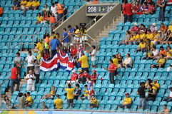 Costa Rica fans on stadium Royalty Free Stock Images
