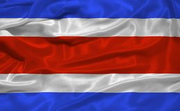 Costa Rica Flag 3. Illustration of waving Costa Rican Flag close up Stock Photos